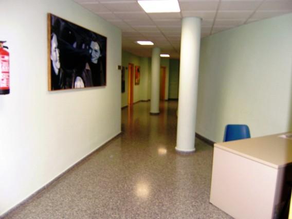 Pintura en el interior - sala en la escuela