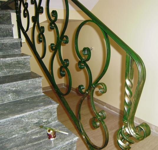 Pintura de metales - escaleras interiores
