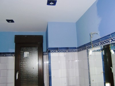 Pintura interior en el baño